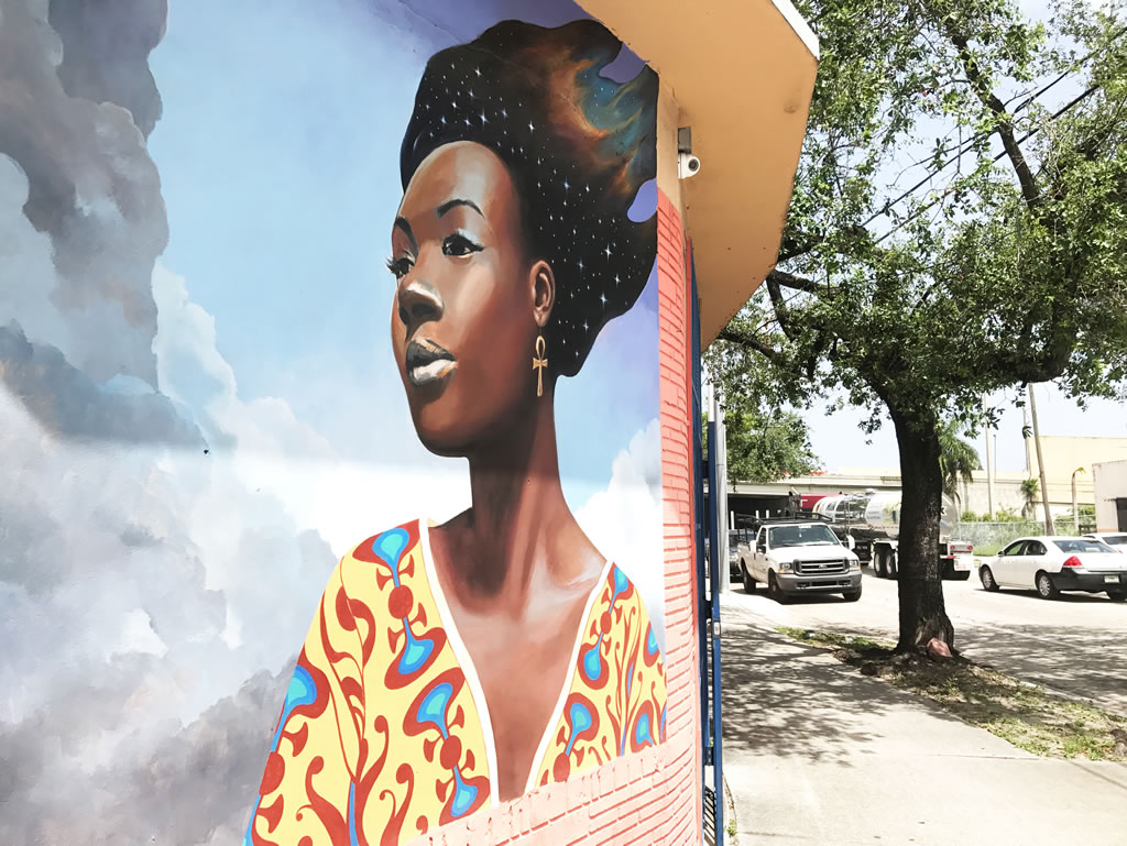 Street mural in Liberty City
