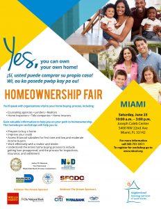 NHSSF Homeownership Fair in Miami Dade flyer