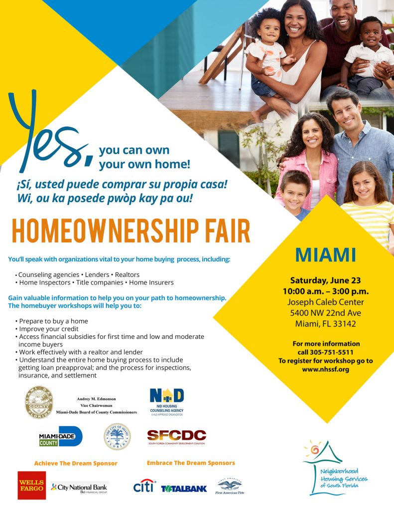 NHSSF Homeownership Fair in Miami Dade flyer