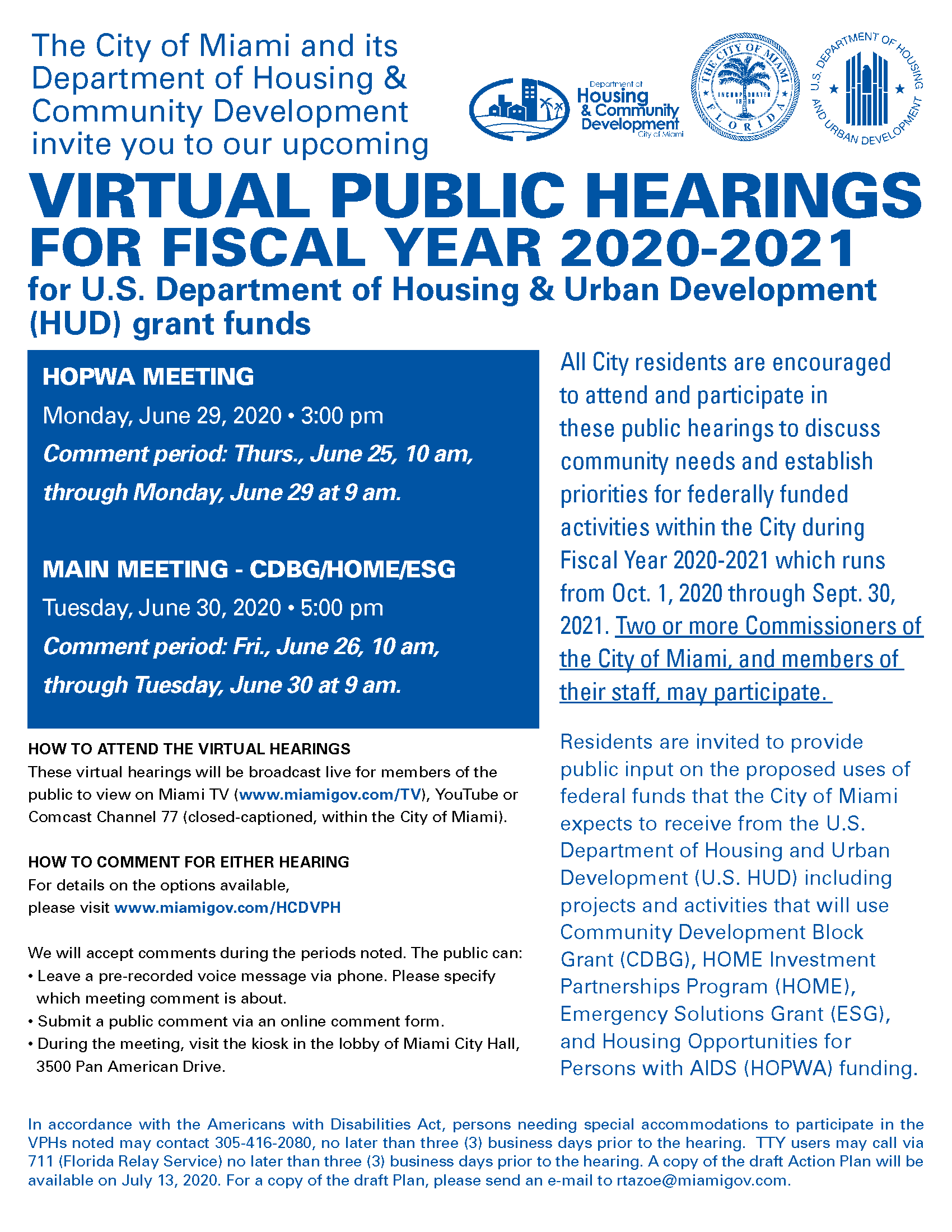 ActionPlan public hearing flyer 2020-2021