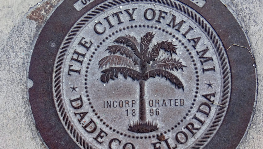 City of Miami survey marker
