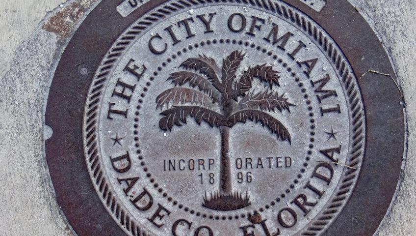 City of Miami survey marker