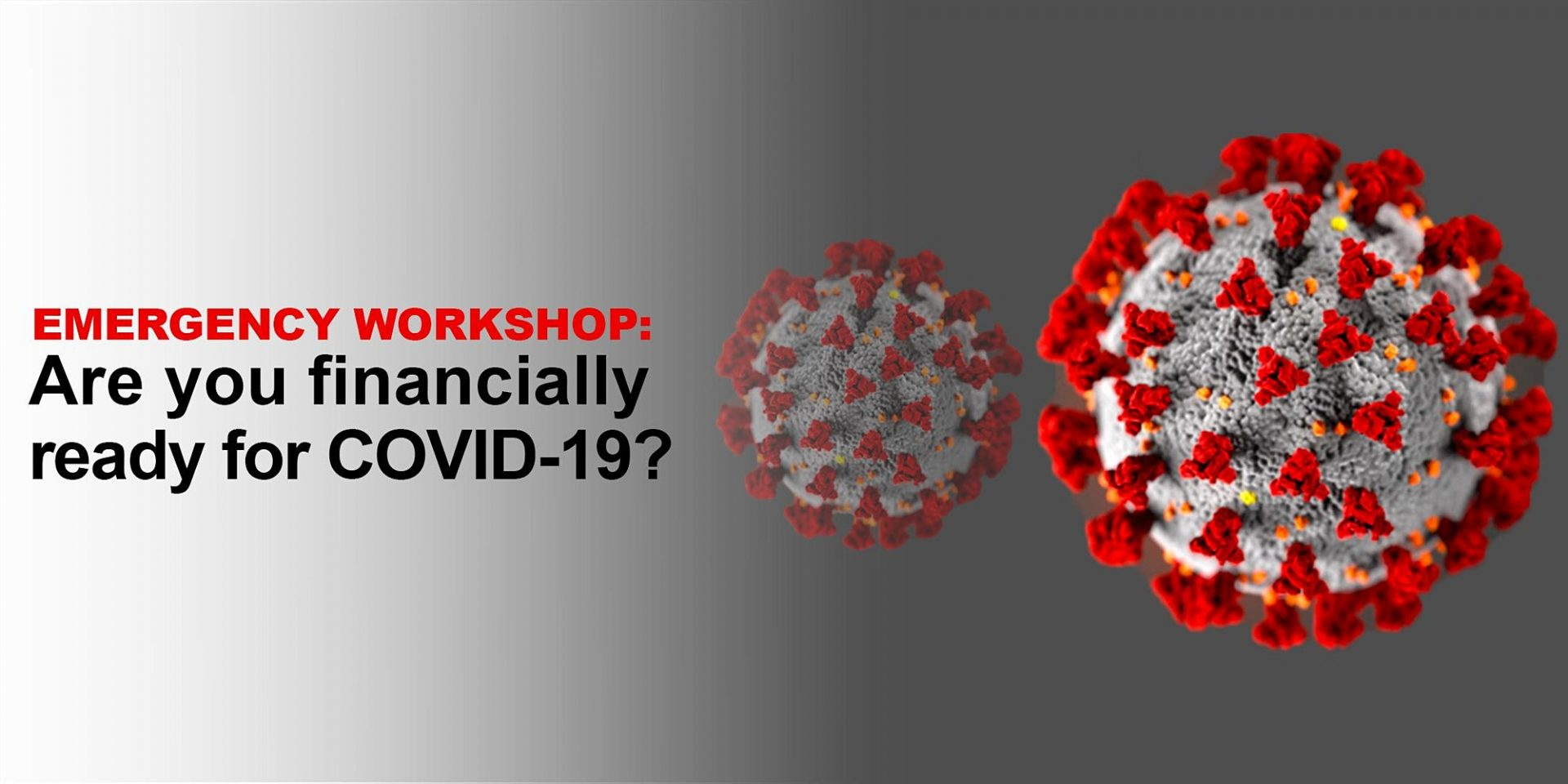 Emergency Workshop: Are you financially ready for COVID-19? 9/14 (English)