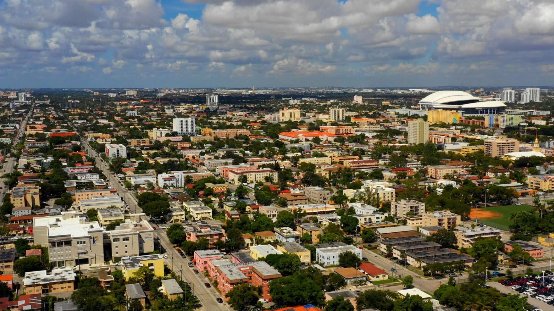 Aerial view of Little Havana