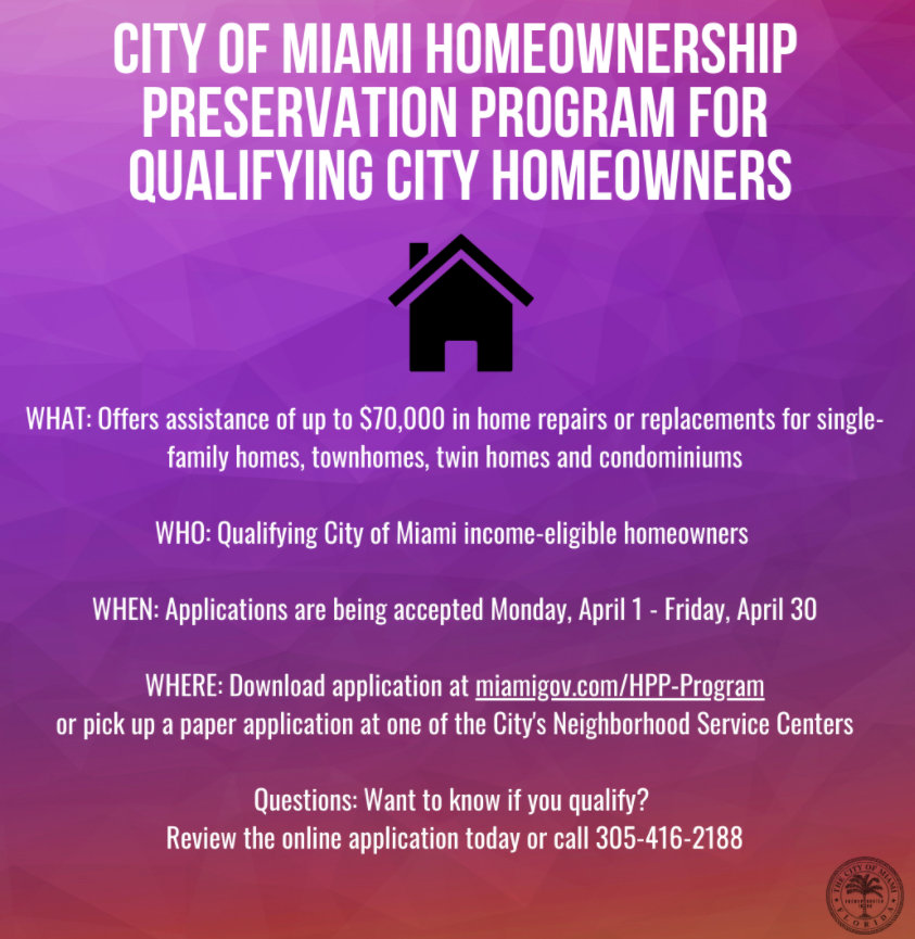 City of Miami homeownership preservation program