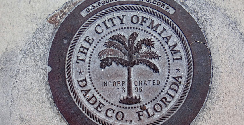 photo of a City of Miami survey marker
