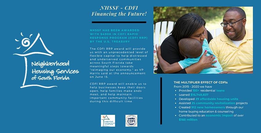 infographic detailing NHSSF CDFI program